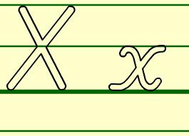 字母X书写(视频动画)