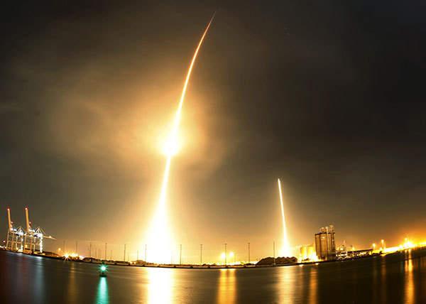 """SpaceX首次成功回收""""一级火箭"""""""
