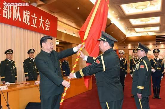 """解放军""""火箭军""""等三大机构成立"""