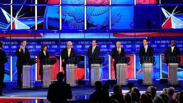 """美国大选初期辩论是""""欢乐时光""""?"""