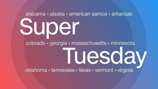 """美国大选迎来""""超级星期二"""""""