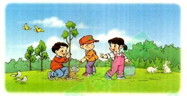 小学英语作文:WePlantedTrees!我们种树了小学马鞍镇图片