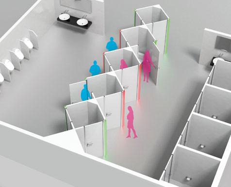 """""""绅士厕所""""解决女厕供不应求"""