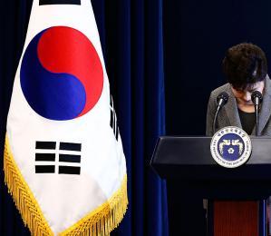 朴槿惠在电视讲话中提出辞职
