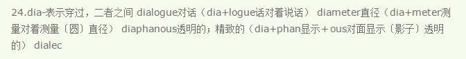 常用英语前缀(17)dia-/dif-