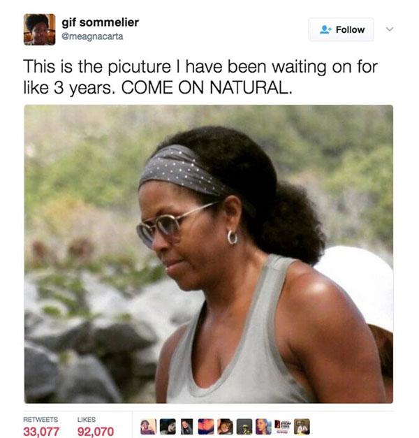 米歇尔•奥巴马换回自来卷 新发型火了!