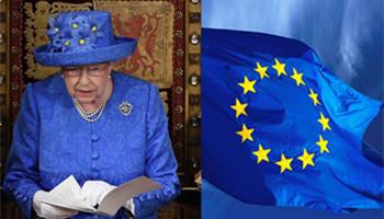 """国会开幕大典上女王戴""""欧盟旗帜""""帽子,英国网友坐不住了"""