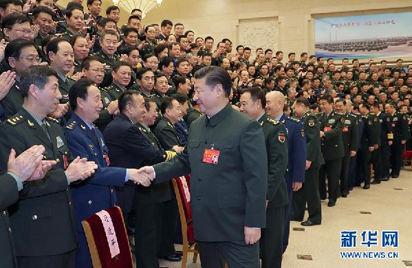 习近平:为实现党在新时代的强军目标而奋斗
