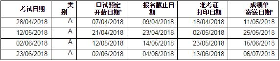 2018年用于签证及移民雅思考试(学术机考)开放报名