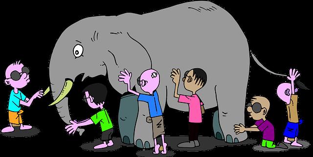 中国寓言故事:盲人摸象