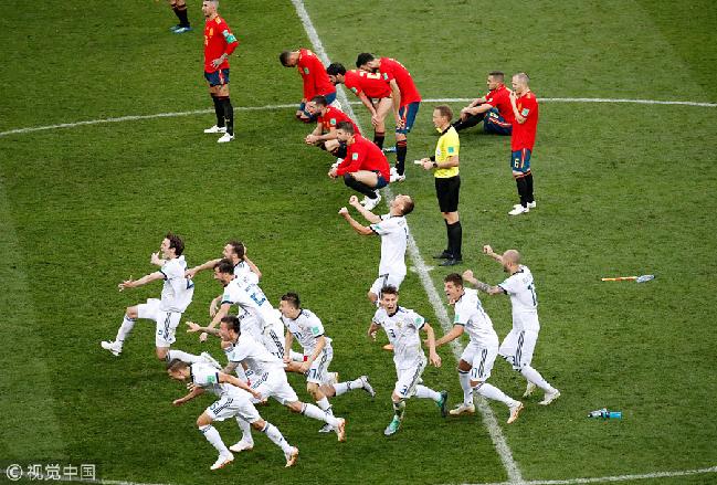 世界杯淘汰赛上演两场点球大战 俄罗斯、克罗地亚携手晋级