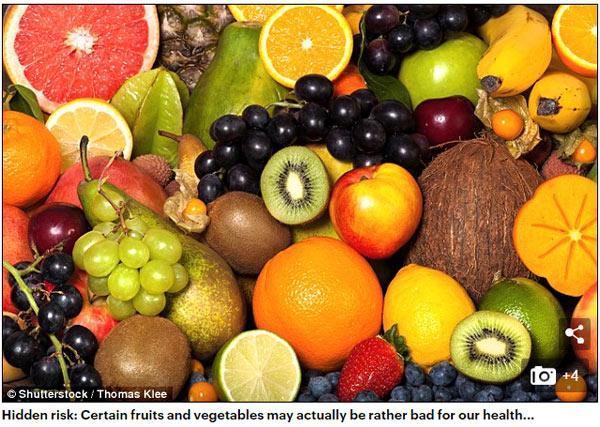 蔬菜和水果也不能乱吃!专家:乱吃可致病