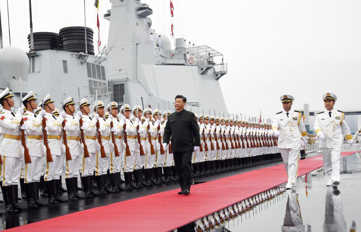庆祝人民海军成立70周年海上阅兵亮点回顾