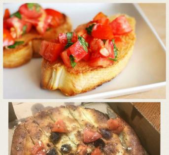 比较餐厅提供的食物和它的广告图片