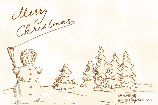 英语新年贺卡手绘